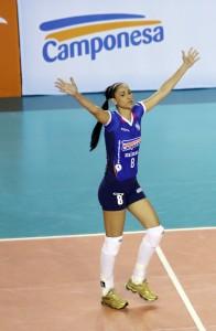 Minas melhorou bastante  a chegada de Jaquelini ao time (Foto: Divulgação/Minas)