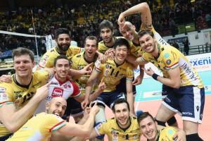Jogadores do Modena são só sorrisos (Foto: Divulgação/Modena)