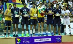 Sada teve três atletas na seleção ideal do Sul-americano; búlgaro foi MVP (Foto: Divulgação/Sada)