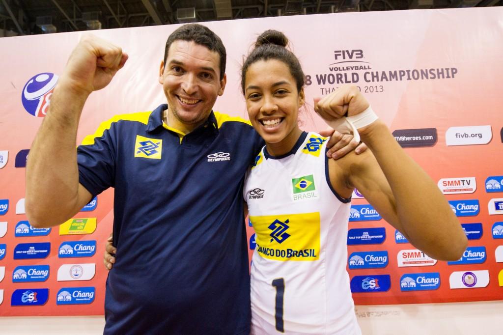 Thomas e Drussyla, no Mundial sub-18, no Japão em 2013